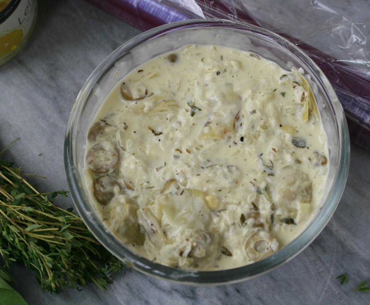 Artichoke cream cooling