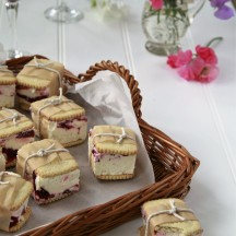 Dessert Gooseberry rippleice-cream sandwhices for summer entertaining