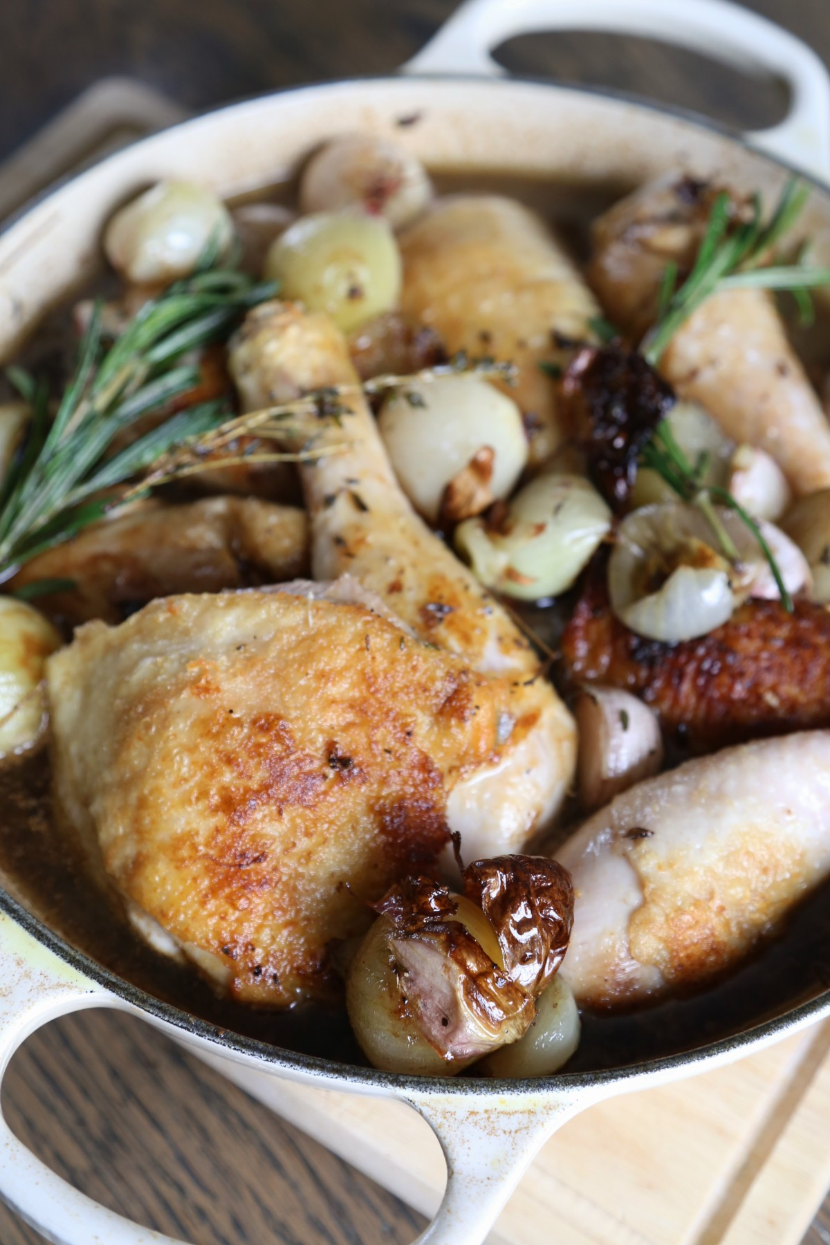 Chicken cooked in sherry and sherry vinegar