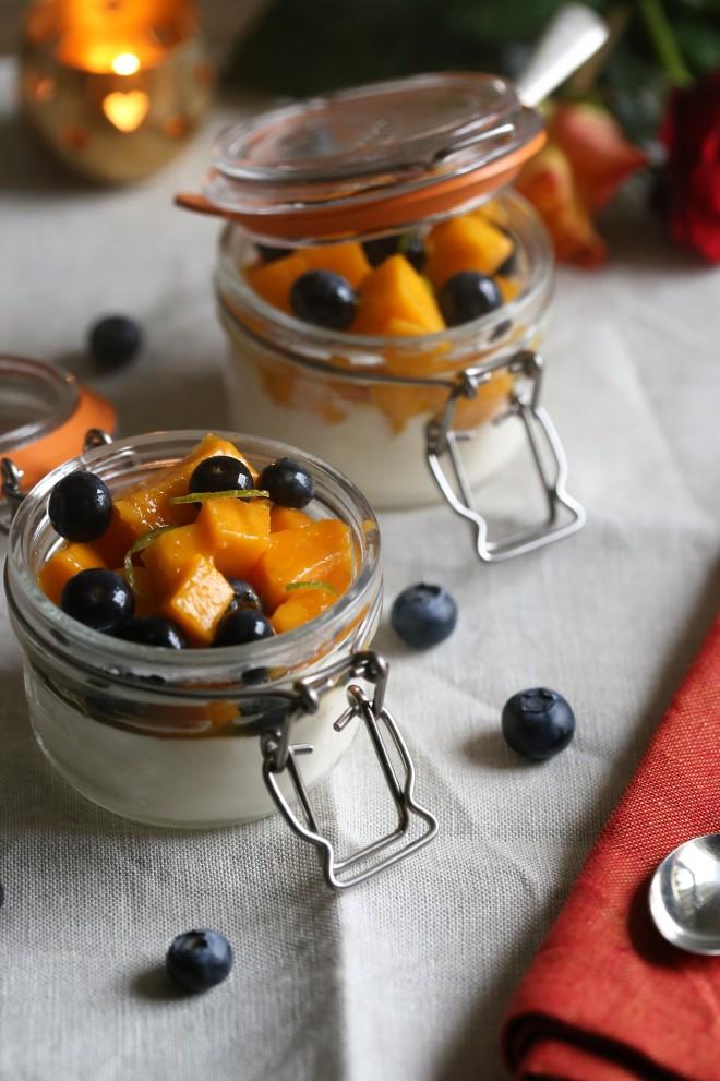 home-made yoghurt in Kilner jars