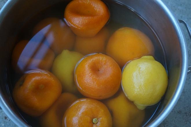 boiled seville oranges