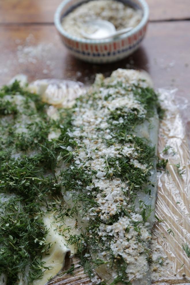 curing moked haddock fillets like Gravad Lax