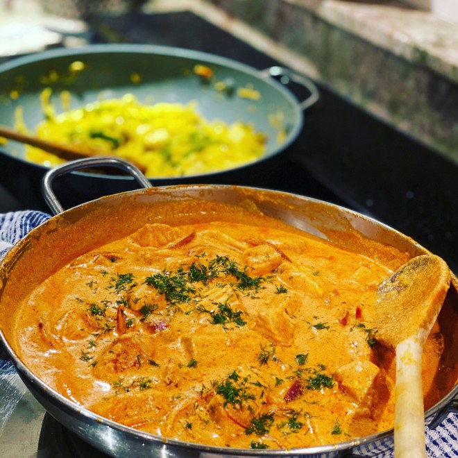 Bengali style salmon curry