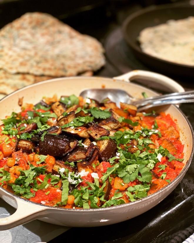 wild garlic naan